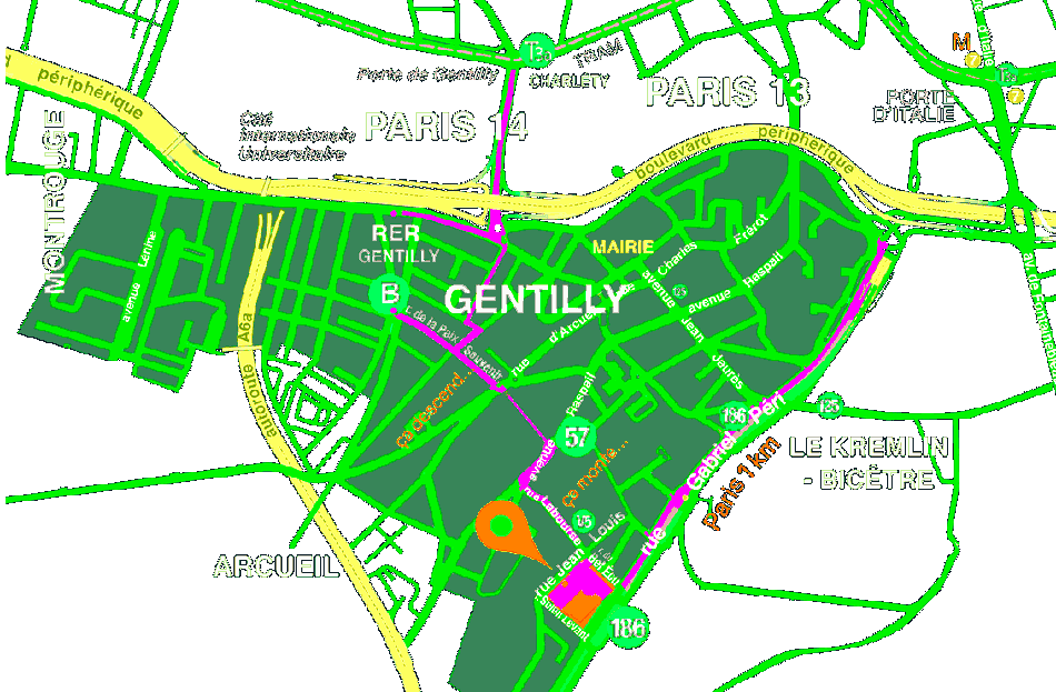 Plan Paris Gentilly 3615 Biennale